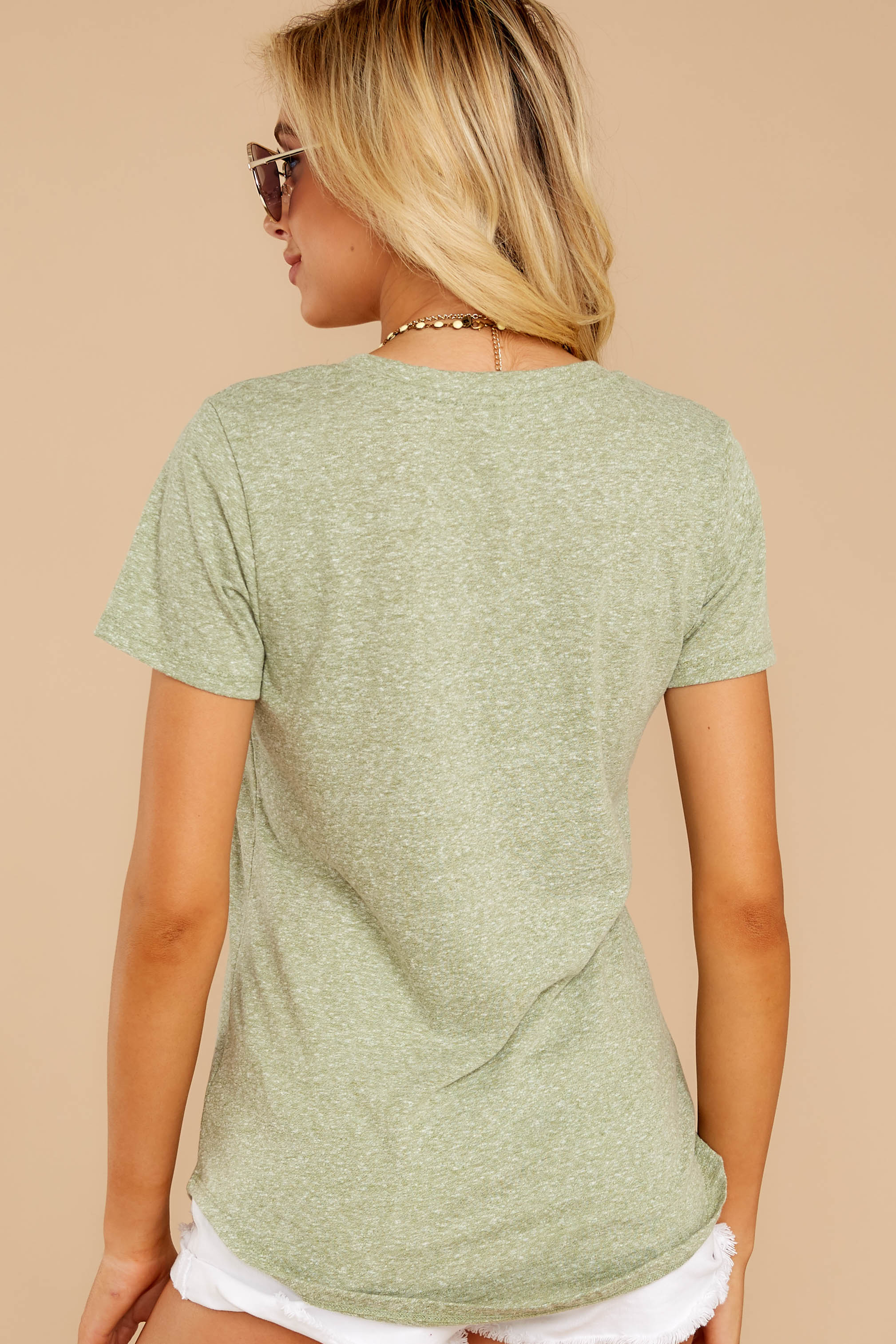 The Oil Green Triblend Pocket Tee