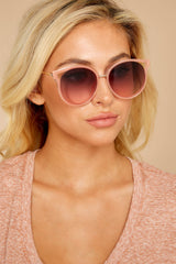 4 See Thunder Rose Fade Pink Sunglasses at reddressboutique.com
