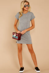 2 The Heather Grey Triblend T-Shirt Dress at reddressboutique.com