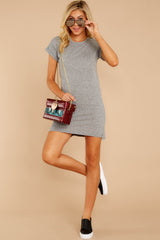 3 The Heather Grey Triblend T-Shirt Dress at reddressboutique.com
