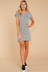 4 The Heather Grey Triblend T-Shirt Dress at reddressboutique.com