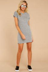 5 The Heather Grey Triblend T-Shirt Dress at reddressboutique.com