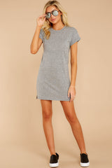 6 The Heather Grey Triblend T-Shirt Dress at reddressboutique.com