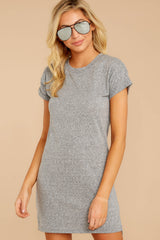 7 The Heather Grey Triblend T-Shirt Dress at reddressboutique.com