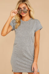 8 The Heather Grey Triblend T-Shirt Dress at reddressboutique.com