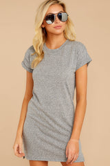 9 The Heather Grey Triblend T-Shirt Dress at reddressboutique.com