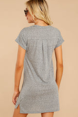 10 The Heather Grey Triblend T-Shirt Dress at reddressboutique.com