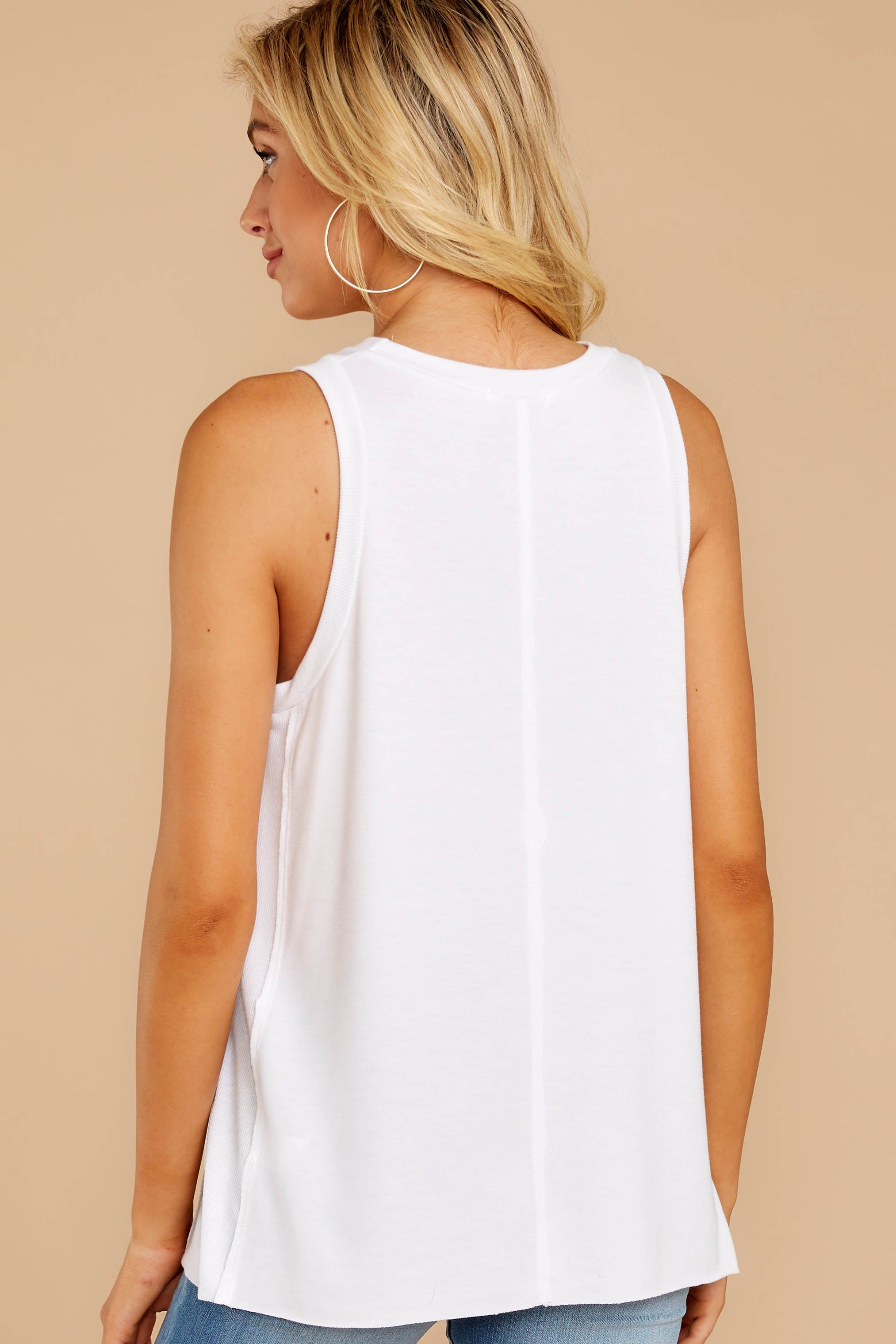 8 This Moment White Tank at reddressboutique.com
