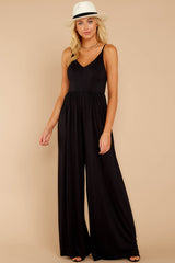 2 Wine And Dine Black Jumpsuit at reddressboutique.com