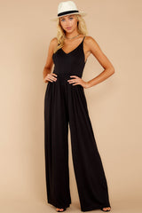 3 Wine And Dine Black Jumpsuit at reddressboutique.com