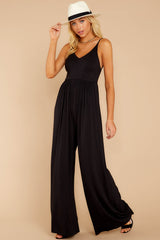 1 Wine And Dine Black Jumpsuit at reddressboutique.com