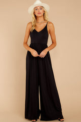 4 Wine And Dine Black Jumpsuit at reddressboutique.com