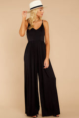5 Wine And Dine Black Jumpsuit at reddressboutique.com