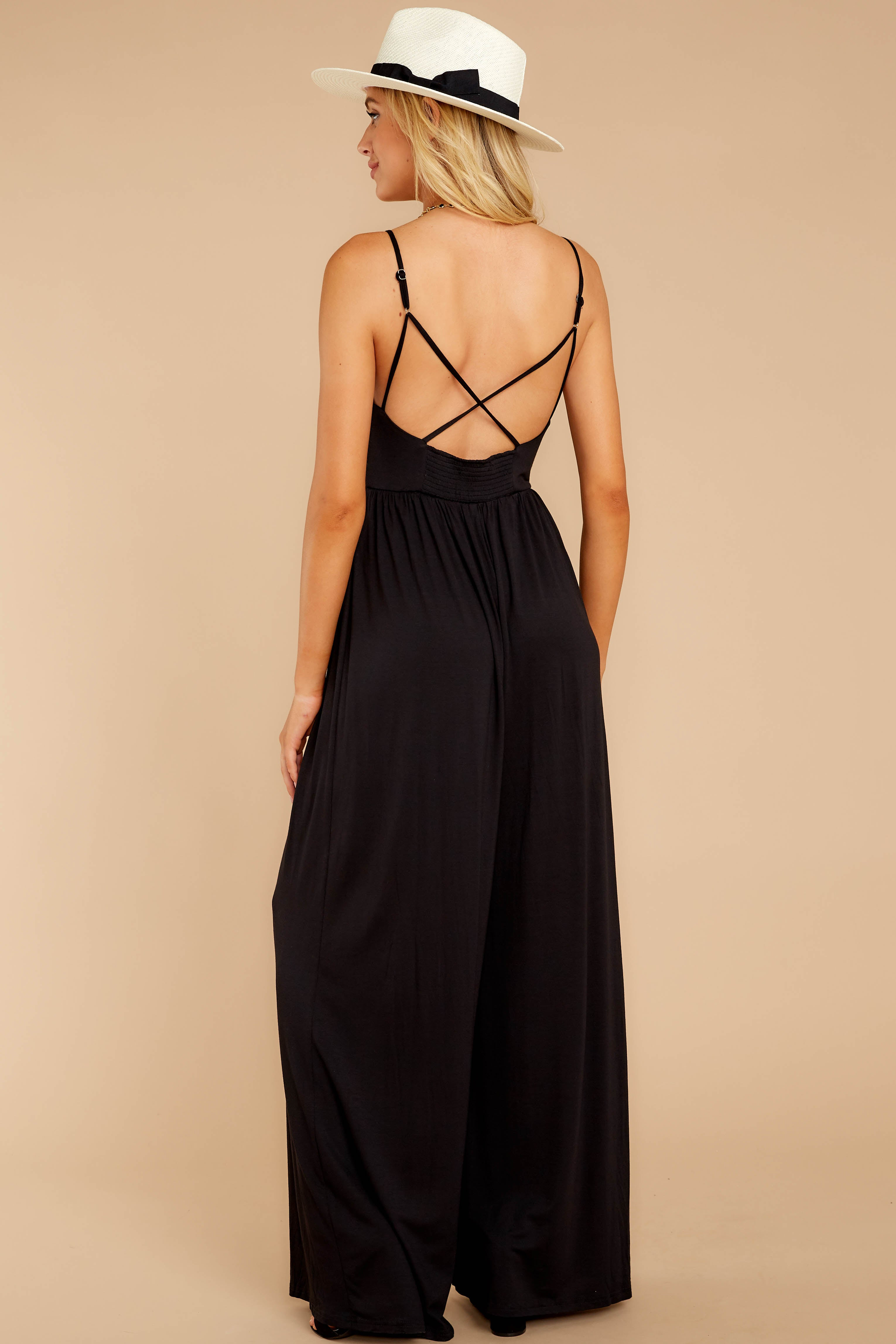 6 Wine And Dine Black Jumpsuit at reddressboutique.com
