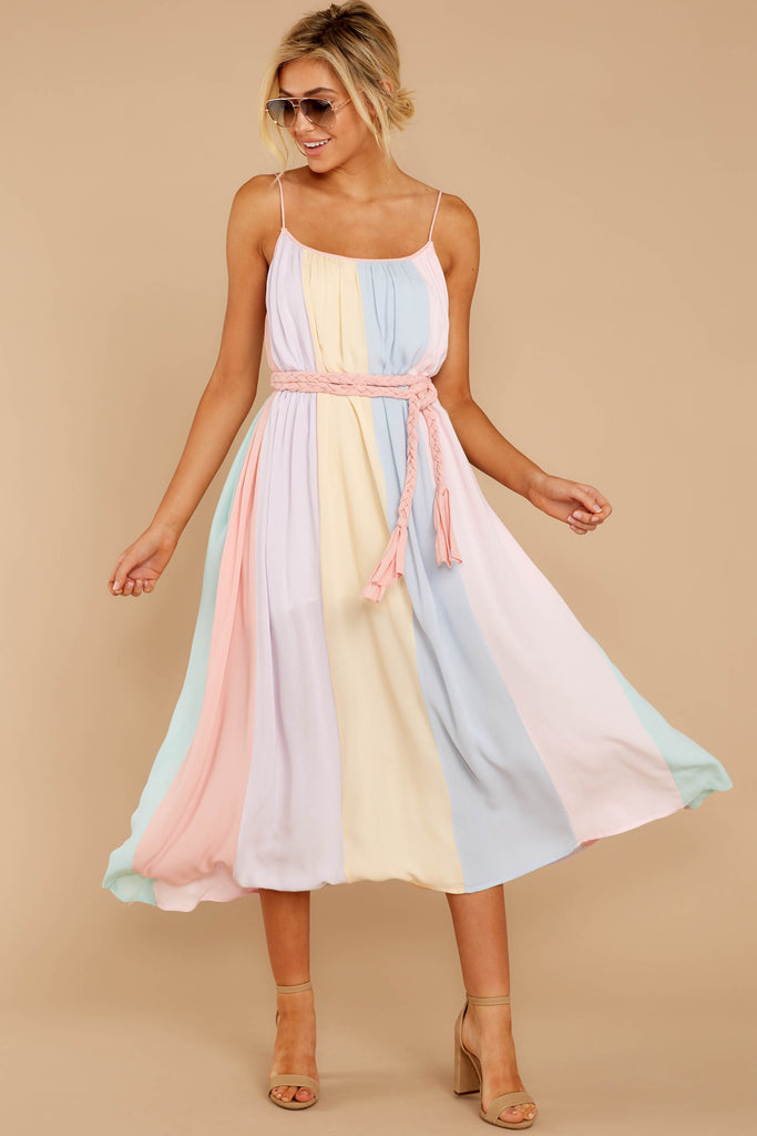 1 Sparks Fly Mauve Pink Multi Stripe Dress at reddressboutique.com