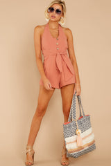 1 Inspire Optimism Clay Romper at reddressboutique.com