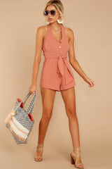 2 Inspire Optimism Clay Romper at reddressboutique.com