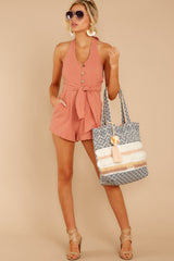 4 Inspire Optimism Clay Romper at reddressboutique.com
