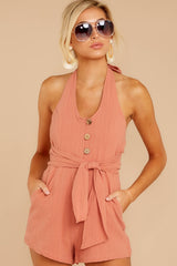 6 Inspire Optimism Clay Romper at reddressboutique.com