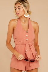 8 Inspire Optimism Clay Romper at reddressboutique.com