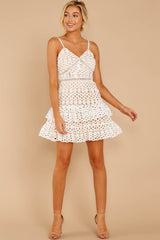 2 Break A Million Hearts White Lace Dress at reddressboutique.com