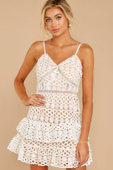 3 Break A Million Hearts White Lace Dress at reddressboutique.com