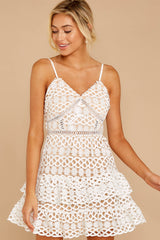 4 Break A Million Hearts White Lace Dress at reddressboutique.com