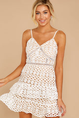 5 Break A Million Hearts White Lace Dress at reddressboutique.com