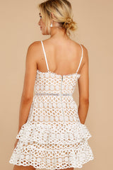 7 Break A Million Hearts White Lace Dress at reddressboutique.com