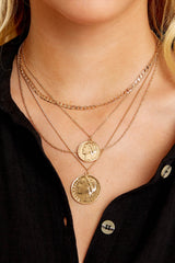 1 Roman Holiday Gold Layered Necklace at reddressboutique.com