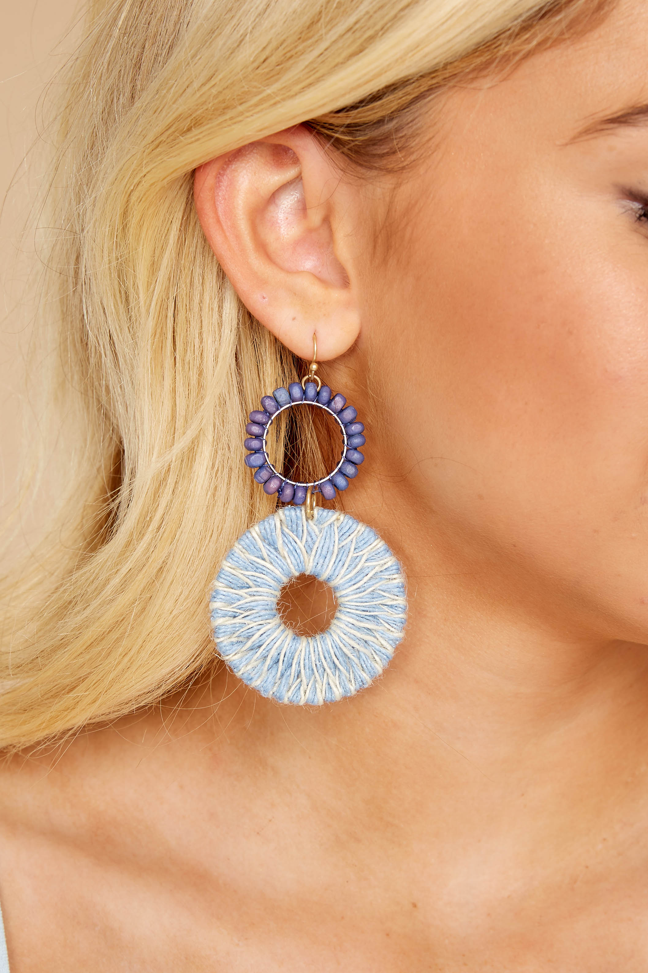 Story Weaver Blue Multi Earrings