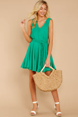 3 Quite Simply Shamrock Green Dress at reddressboutique.com