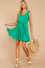 1 Quite Simply Shamrock Green Dress at reddressboutique.com