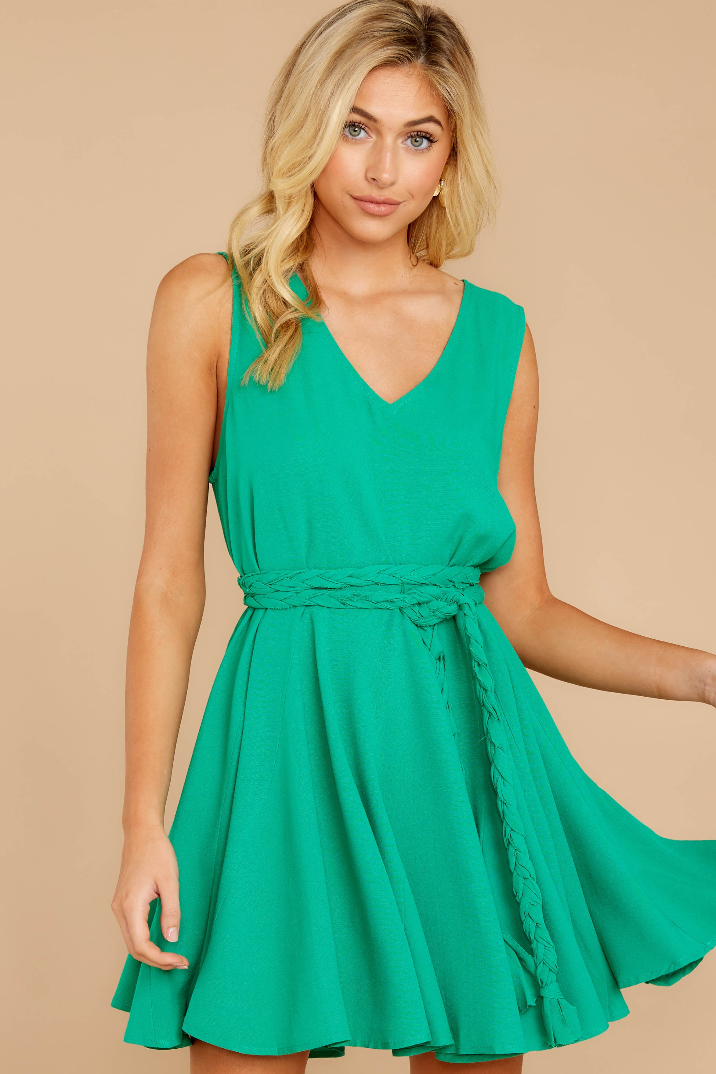 4 Quite Simply Shamrock Green Dress at reddressboutique.com
