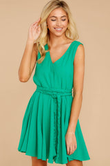 5 Quite Simply Shamrock Green Dress at reddressboutique.com