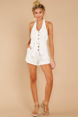 3 Inspire Optimism White Romper at reddressboutique.com