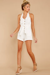 2 Inspire Optimism White Romper at reddressboutique.com