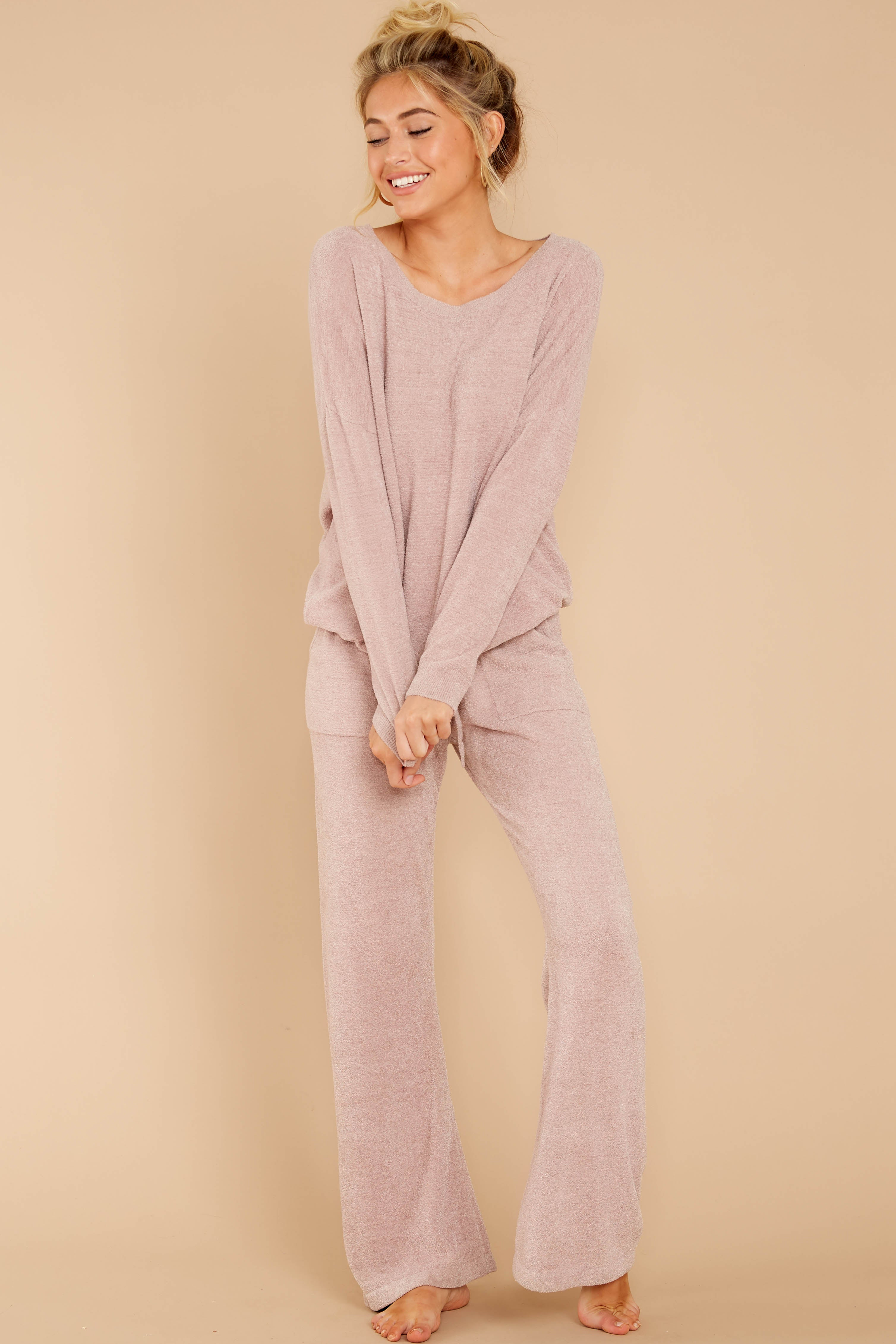 1 CozyChic Ultra Lite® Faded Rose Slouchy Pullover at reddressboutique.com