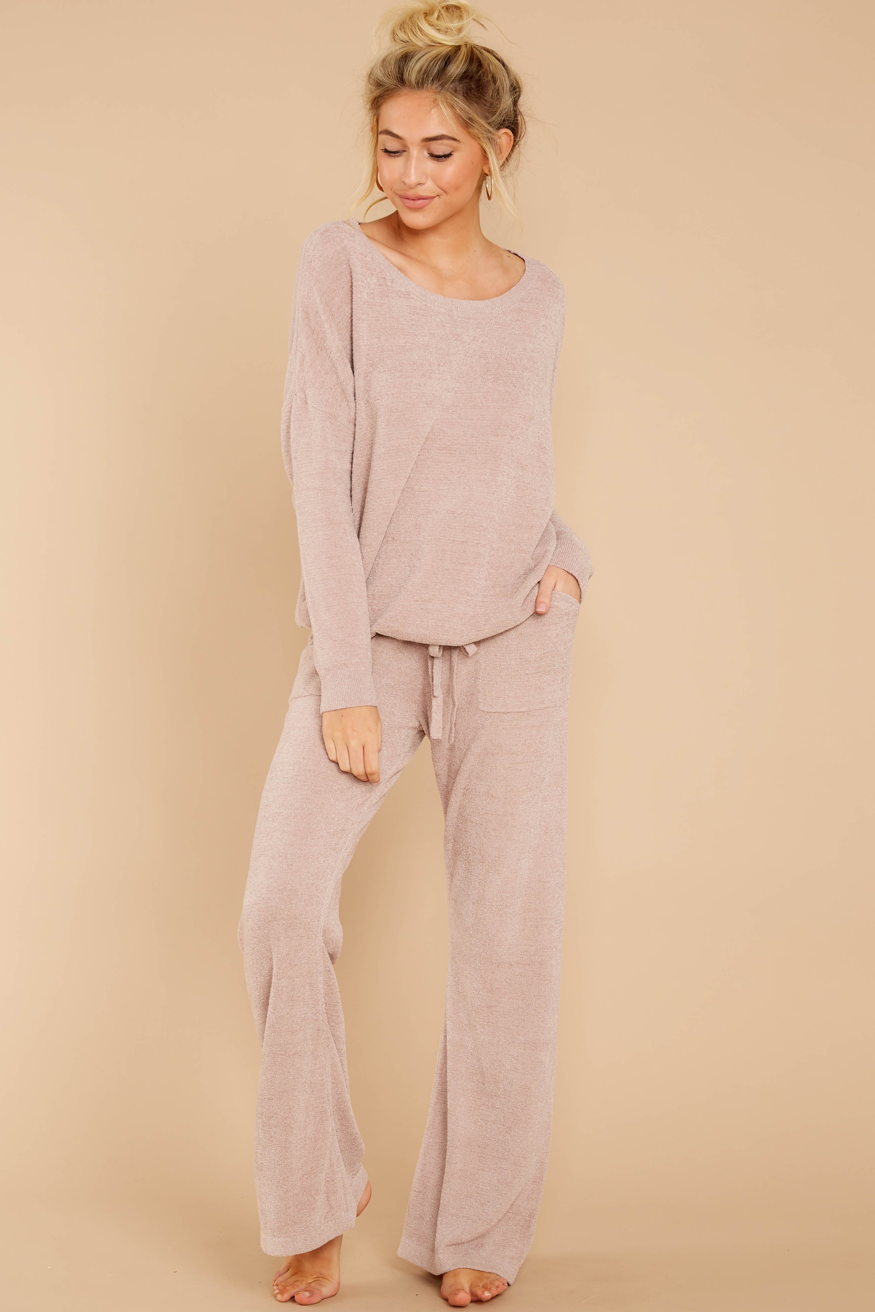 3 CozyChic Ultra Lite® Faded Rose Slouchy Pullover at reddressboutique.com