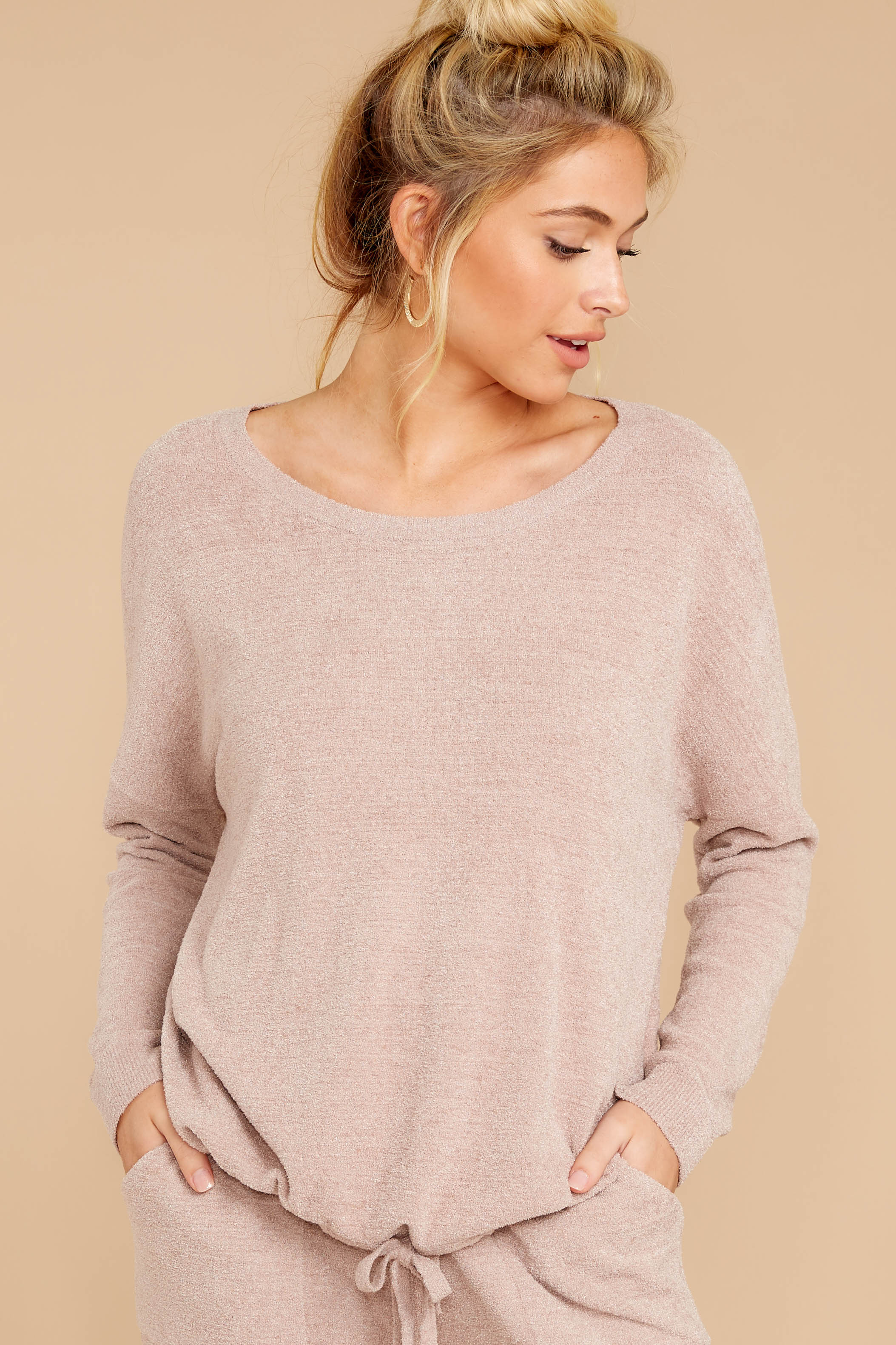 4 CozyChic Ultra Lite® Faded Rose Slouchy Pullover at reddressboutique.com
