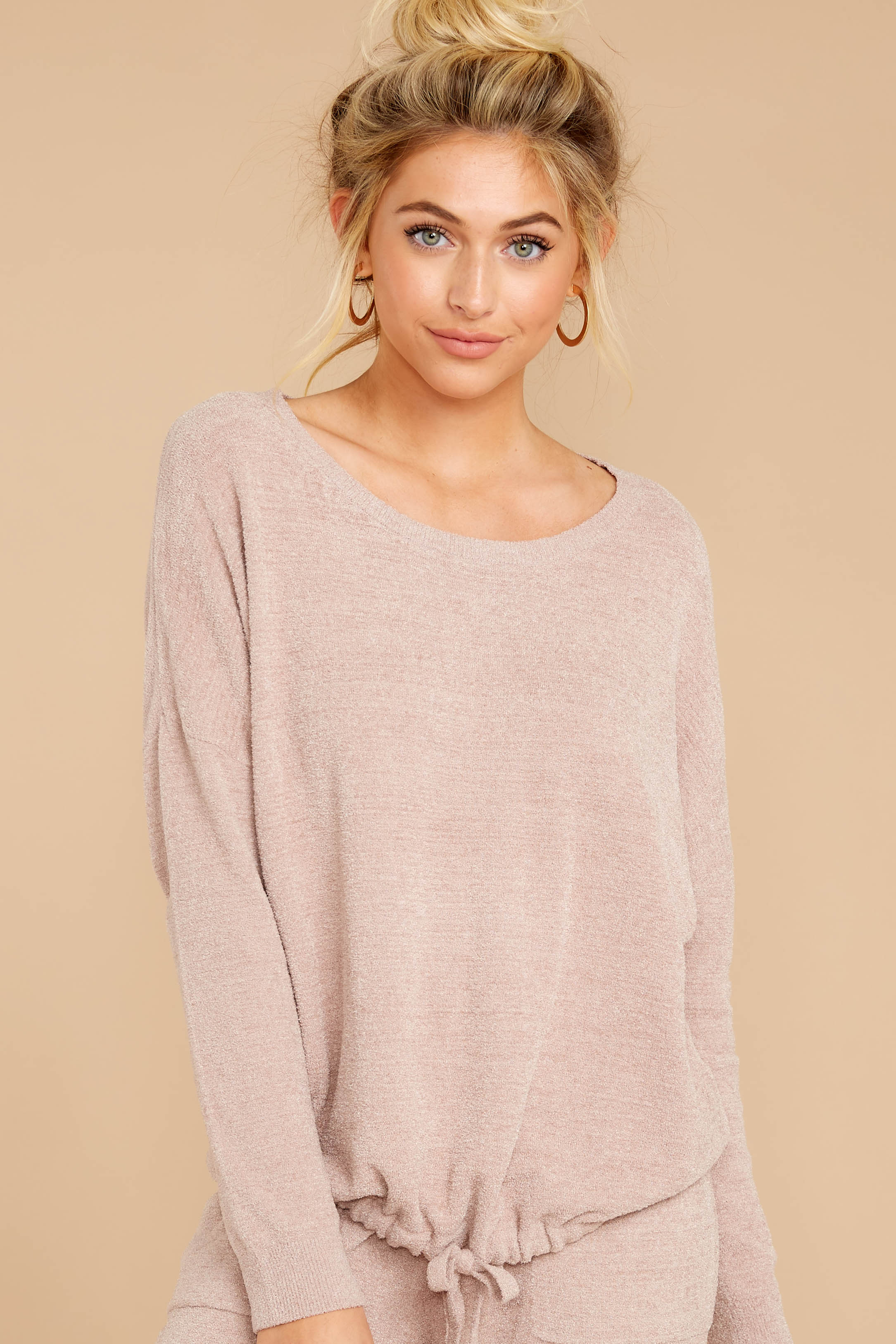5 CozyChic Ultra Lite® Faded Rose Slouchy Pullover at reddressboutique.com