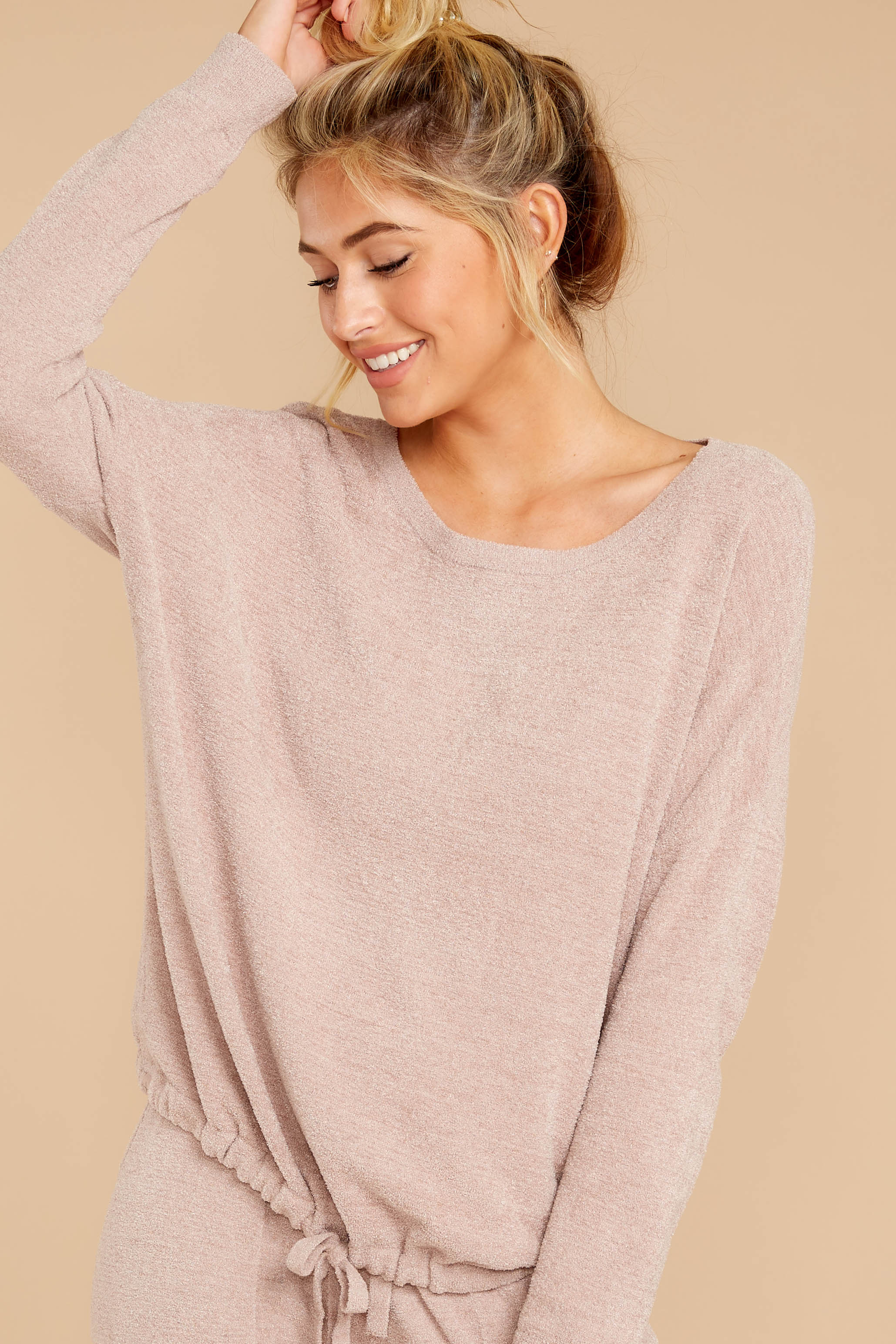 6 CozyChic Ultra Lite® Faded Rose Slouchy Pullover at reddressboutique.com