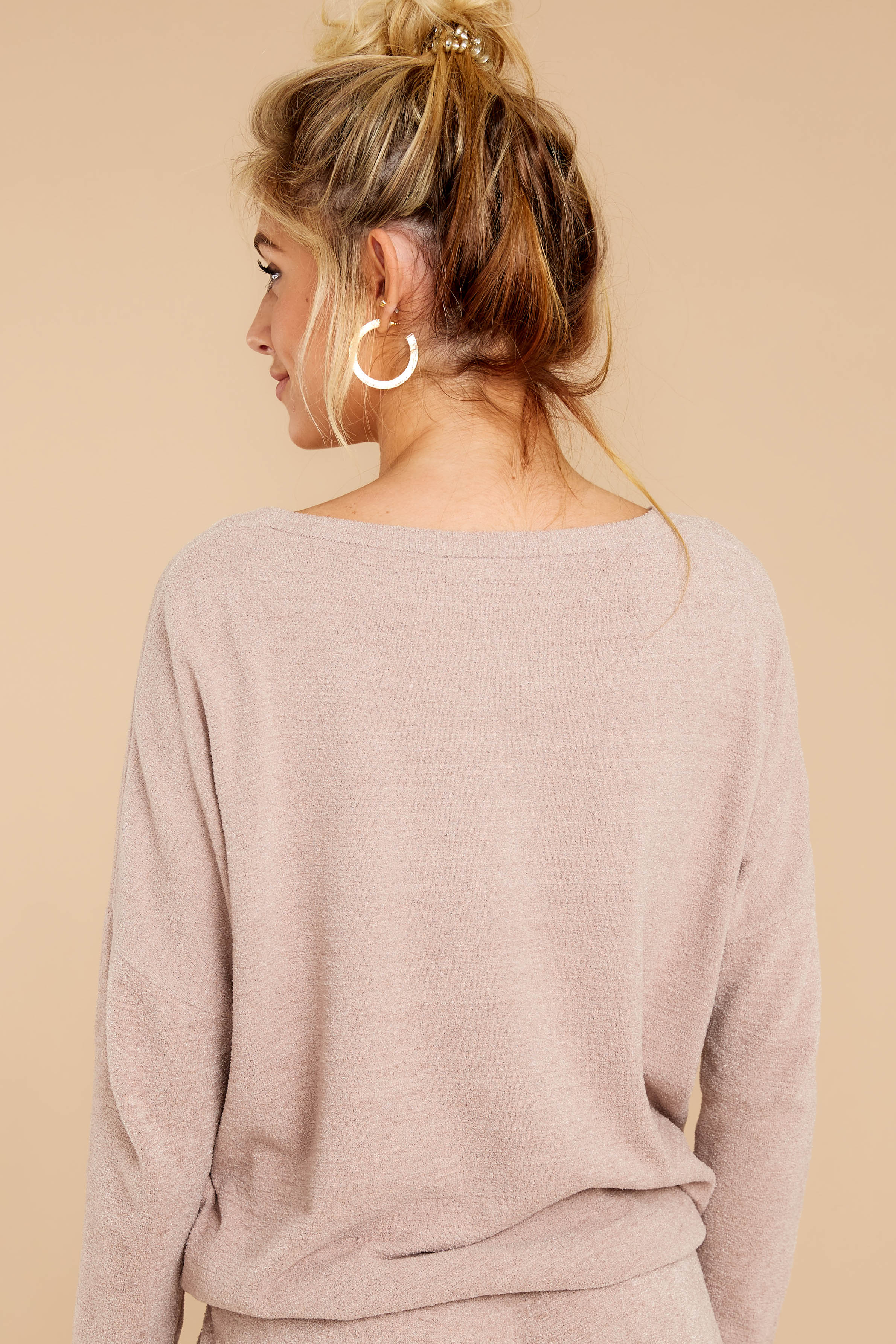 CozyChic Ultra Lite® Faded Rose Slouchy Pullover