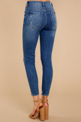 3 Best Choice Medium Wash Distressed Skinny Jeans at reddressboutique.com