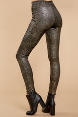 4 Black And Gold Velvet Shine Leggings at reddressboutique.com