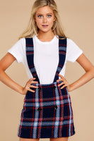Tall Polyester Plaid Print Side Zipper Jumper
