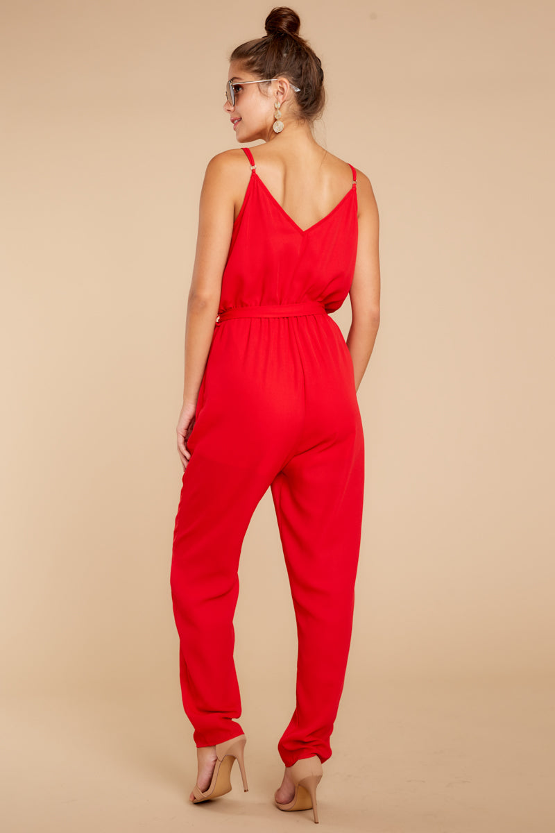 5 Jump Into Things Red Jumpsuit at reddressboutique.com
