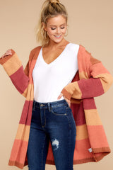 4 Make Your Mind Up Orange Multi Stripe Cardigan at reddress.com