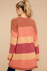 9 Make Your Mind Up Orange Multi Stripe Cardigan at reddress.com