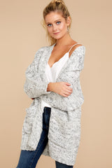5 Fit For Fall Heather Grey Cardigan at reddressboutique.com